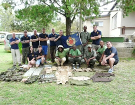 Anti-poaching team given a boost with army kit donation!