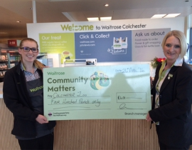Community donation from Waitrose Colchester!